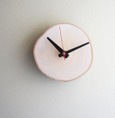 natural white birch forest clock - unwind & relax