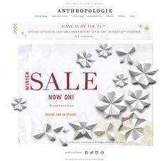 #newsletter Anthropologie 12.2013 Our SALE is here!