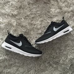 Nike Air Max Thea Brand new in box. Nike Air Max Thea in black, white and gray. Size 6 in woman's. Nike Shoes Athletic Shoes