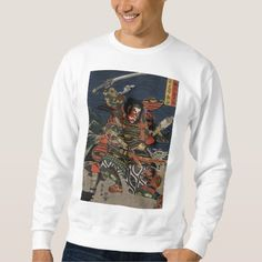 The samurai warriors Tadanori and Noritsune Pullover Sweatshirts
