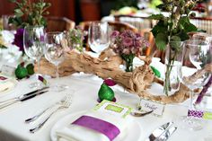 purple and green bridal shower