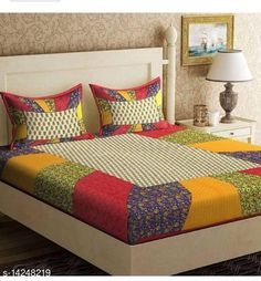 Checkout this latest Bedsheets_500-1000 Product Name: *Jaipuri Printed Double Bedsheet* Fabric: Cotton No. Of Pillow Covers: 2 Thread Count: 144 Multipack: Pack Of 1 Sizes: Queen (Length Size: 100 in Width Size: 90 in Pillow Length Size: 27 in Pillow Width Size: 17 in)  Country of Origin: India Easy Returns Available In Case Of Any Issue   Catalog Rating: ★4 (447)  Catalog Name: Elite Attractive Bedsheets CatalogID_2823853 C53-SC1101 Code: 083-14248219-798