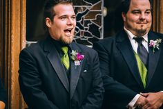 Grooms reactions are the best.