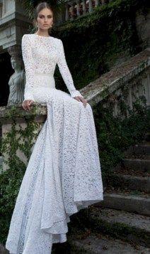 awesome 44 Elegant Winter Wedding Dress Ideas with Sleeves  https://viscawedding.com/2017/11/24/44-elegant-winter-wedding-dress-ideas-sleeves/