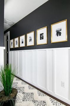 DIY Oversized Picture Frame Mat | ©GarrisonStreetDesignStudio | DIY | Oversized | Picture | Frame | Mat | Ideas | Easy | High End | White | Gold | Large Mat | Oversized matted frames | Matting pictures DIY | IKEA Hack | Gallery Wall | Hall of Fame | Modern Family Photos | Oversized Mat | Wall | Hack | Pottery Barn | Modern | Photo | Display | Double Mat | SILVERHÖJDEN | Affordable | Black & White | How to | Family photos on wall | Decorating with family photos | Wedding photo display Family Pictures On Wall, Ikea Pictures, Family Photos, Ikea Picture Frame, Gold Photo Frames, Modern Hallway, Room Ideas, Decor Ideas, Black White