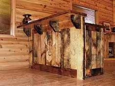 Bar made of pallet wood