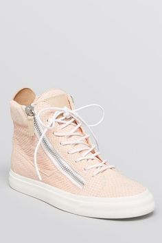 Giuseppe Zanotti Lace-Up High-Top Sneakers