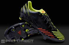 adidas Football Boots - adidas Predator LZ TRX FG SL - Firm Ground - Soccer Cleats - Black-Electricity-Infrared
