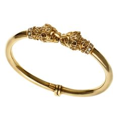 Bracelet Héritage à têtes de lion en or et diamants de Zolotas