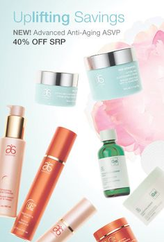 Uplifting Savings. NEW! Advanced anti-Aging ASVP 40% off SRP. Plus 60% off your next purchase with your Preferred Rewards!!!