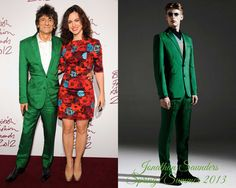 The Derek's Blog: Ronnie Wood en Jonathan Saunders – British Fashion Awards 2012
