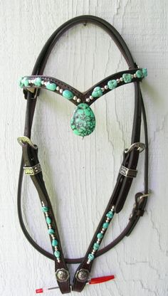 Rocky Top Turquoise Pendant Headstall - Inspired Turquoise by <br />Red…