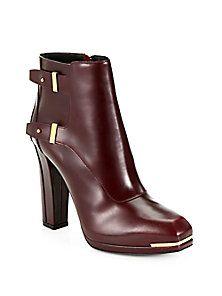 Belstaff - Wembley Leather Platform Ankle Boots