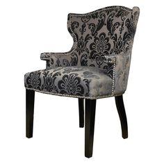 HD Couture Brittania Fan Damask Chair Mink - HD96795