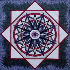 Mariner's Compass ~ Quiltworx.com, mad by Certified Shop, Blue Bamboo! To learn more about Blue Bamboo, click here: http://www.quiltworx.com/certifiedshops/blue-bamboo/