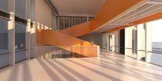 schooldesign, bridge and central hall
