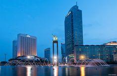 Blue Hour at Bundaran Hotel Indonesia | Jakarta