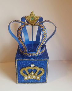 NEW ITEM Royal Crown Handmade /Hand painted Perfect centerpiece option for any royal celebration! Size: 9 Tall 10 wide *Use item as is or add flowers inside *