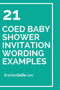 21 Coed Baby Shower Invitation Wording Examples