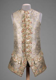 Waistcoat ca. 1750-1770 via The Costume Institute of the Metropolitan Museum of Art