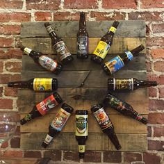 Beer lovers will enjoy these one of a kind clocks featuring labels from micro…