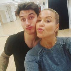 """INSTAGRAM Anastacia: """" @gorka_marquez and me sending @brendancoleinsta get well kiss,,,Working hard on our Quickstep #Strictly """""""