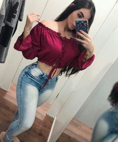 Hot Girls in Jeans Fashion Models, Girl Fashion, Fashion Outfits, Womens Fashion, Summer Outfits, Casual Outfits, Cute Outfits, Mode Rockabilly, Elegantes Outfit