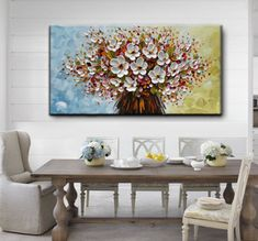 Technology Will Save Us Gamer DIY Kit Vertical Paintings Gold Flower Tree Canvas Art Decor Living Room – AsdamArt 3d Canvas Art, Texture Painting On Canvas, Flower Painting Canvas, Tree Canvas, Abstract Wall Art, Flower Canvas, Painting Flowers, Acrylic Paintings, Modern Painting