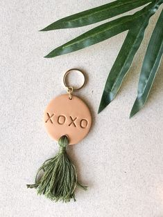 clay keychain polymer keychain with tassel Polymer Clay Crafts, Polymer Clay Jewelry, Clay Beads, Clay Keychain, Keychains, Tassel Keychain, Diy Clay Earrings, Quilling Earrings, Diy Inspiration