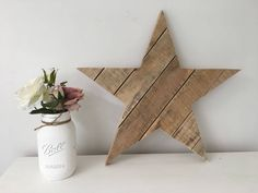 Scandi Christmas, Rustic Christmas, Christmas Gifts, Star Decorations, Christmas Decorations, Wooden Stars, Pallet Crafts, Rustic Feel, New Baby Products