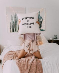 Adorable home bedroom decor! Love this message and the light airy feeling of this room #homedeocr #inspo