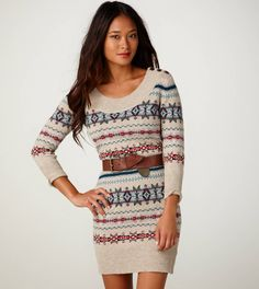 i love sweater dresses, and this fair isle one is especially cute