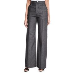 Marc Jacobs Bowie Wide-Leg Denim Pants (6.740 ARS) ❤ liked on Polyvore featuring pants, black, wide leg trousers, wide leg denim pants, wide leg pants, lined pants and marc jacobs