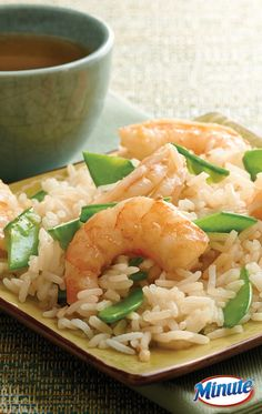 Delicious Asian Shrimp Salad made with quick and easy Minute Ready to Serve Jasmine Rice. (Lunch Recipes For Men) Fish Recipes, Seafood Recipes, Asian Recipes, Dinner Recipes, Cooking Recipes, Lunch Recipes, Healthy Snacks, Healthy Eating, Healthy Recipes