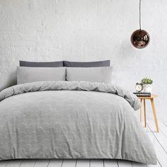 Quadrant Silver Linen/Cotton Quilt Cover Set   Queen   Linen Dreams @ The Home