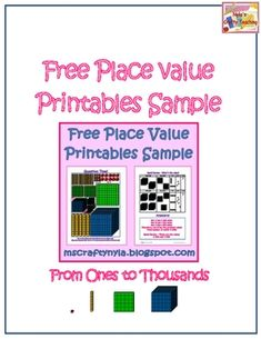 Free! A free place value review quiz with answer key included. From ones to thousands. #math #teaching
