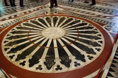 Section of the floor of the Siena Duomo (Siena Cathedral).  Picture taken by Casa Smith Designs (TM).