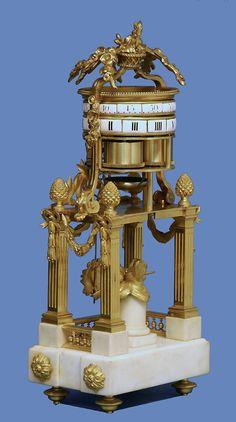 c1795 French Ormolu and White Marble Temple d'Amour Clock, Baillon à Paris.