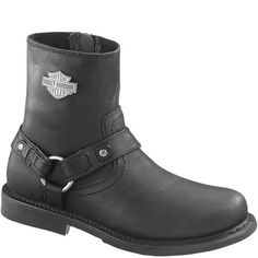 95262 Harley Davidson Men's Scout Motorcycle Boots - Black www.bootbay.com