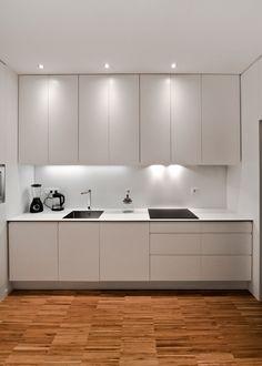 One wall kitchen One Wall Kitchen, Kitchen Room Design, Kitchen Cabinet Design, Kitchen Sets, Modern Kitchen Design, Kitchen Layout, Home Decor Kitchen, Interior Design Kitchen, Kitchen Furniture