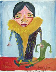 """""""Saquito de francés"""", gouache on paper, 24x 18 cm., year 1998"""