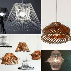 Come realizzare una lampada con 40 grucce di metallo. Idee #reciclo creativo #mostrart 2014. Firenze, Fortezza da Basso dal 24 aprile al 1 maggio