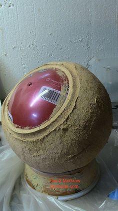 10 inch concrete sphere.: