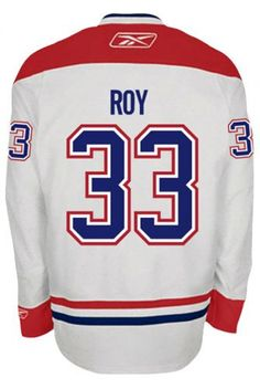 f7c562ccdd8 Montreal Canadiens VINTAGE Patrick ROY #33 Official Away Reebok Premier  Replica NHL Hockey Jersey (