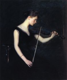 Edmund Charles Tarbell - Girl with Violin (1890)