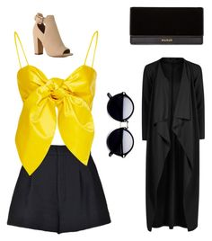 """Untitled #87"" by ebonymcrae on Polyvore featuring RED Valentino and Balmain"