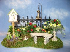 Dollhouse Miniature Garden