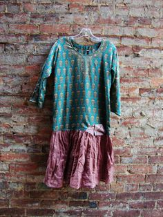 Womens Tunic Dress/ Eco Clothing/ Upcycled by RebirthRecycling,