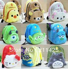 Wholesale Minions Rilakkuma Totoro Schoolbag Doraemon Hello kitty Chopper Style Plush Mobile Phone Bags/Camera Bags/Coin Purses $13.87
