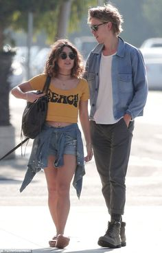 Alone time: Vanessa Hudgens and Austin Butler were seen spending some quality time together as they grabbed a juice to go in Venice Beach on Wednesday